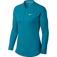 NIKE COURT PURE TOP LONG SLEEVE HALF ZIP