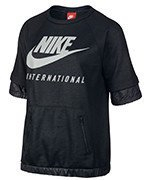 bluza sportowa damska NIKE INTERNATIONAL TOP SHORT SLEEVE / 802356-010