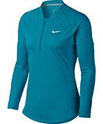bluza tenisowa damska NIKE COURT PURE TOP LONG SLEEVE HALF ZIP / 888170-430