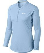 bluza tenisowa damska NIKE COURT PURE TOP LONG SLEEVE HALF ZIP / 888170-466
