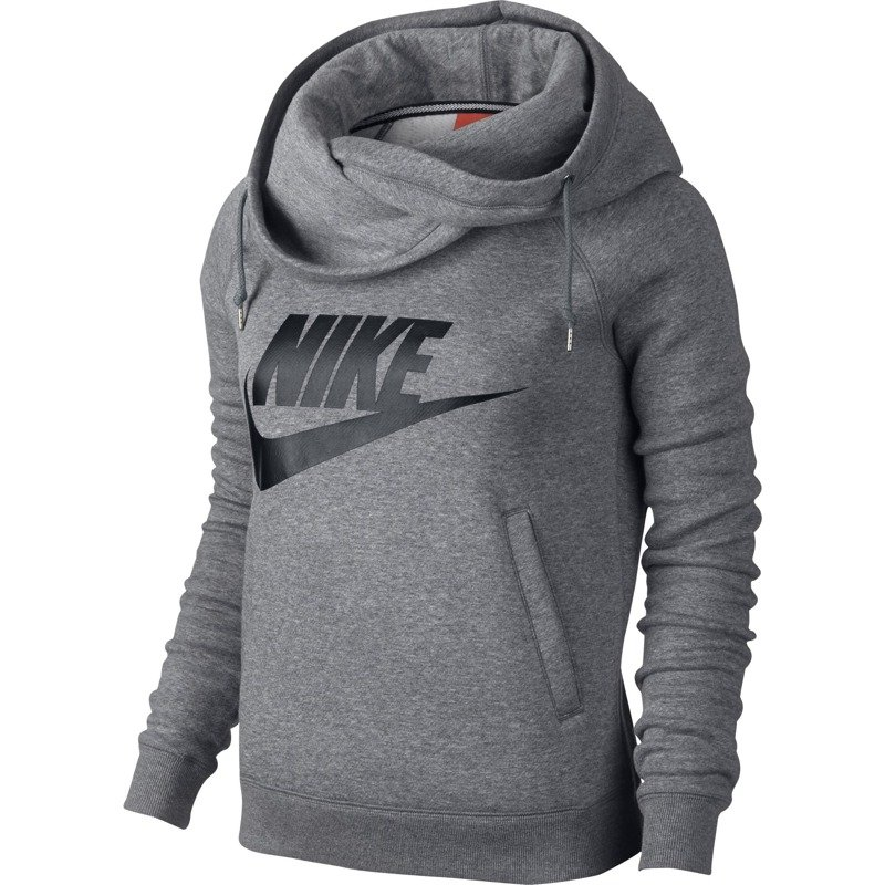 Nike Sportswear RALLY FUNNEL Bluza carbonheathercool szary
