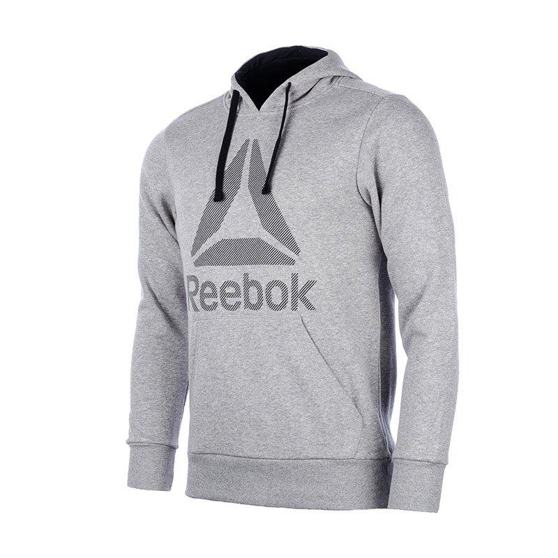 1fdd9db27d48bb bluza sportowa męska REEBOK WORKOUT READY BIG LOGO HOODIE / BK4157 ...