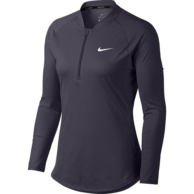 bluza tenisowa damska NIKE COURT PURE TOP LONG SLEEVE HALF ZIP 888170 009