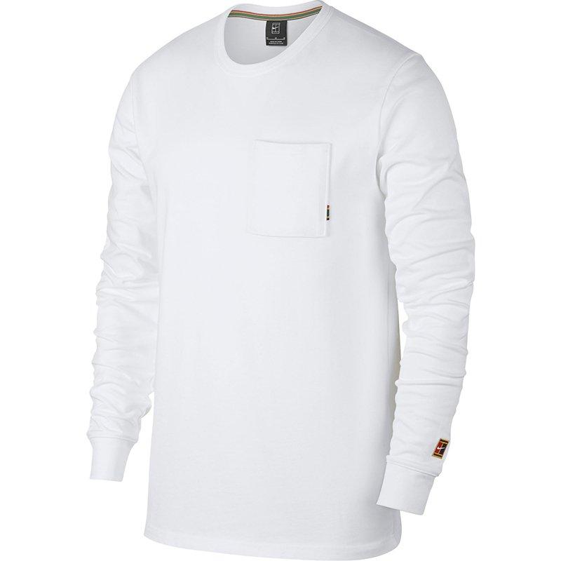 bluza tenisowa męska NIKE COURT COTTON TOP LS HERITAGE 939280 100