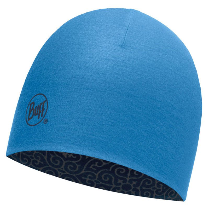 71a1fcfdb0e8 czapka dwustronna do biegania BUFF COOLMAX REVERSIBLE HAT BUFF DHARMA BLUE    113677.707.10