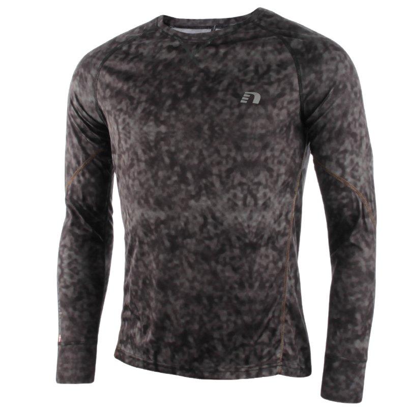 c9c3cd2242a610 koszulka do biegania męska NEWLINE IMOTION PRINTED LONGSLEEVE SHIRT ...