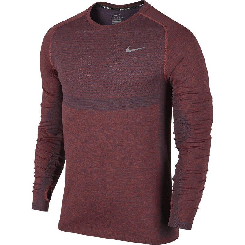 2f0b9a9a4554f4 koszulka do biegania męska NIKE DRI-FIT KNIT LONG SLEEVE   717760 ...