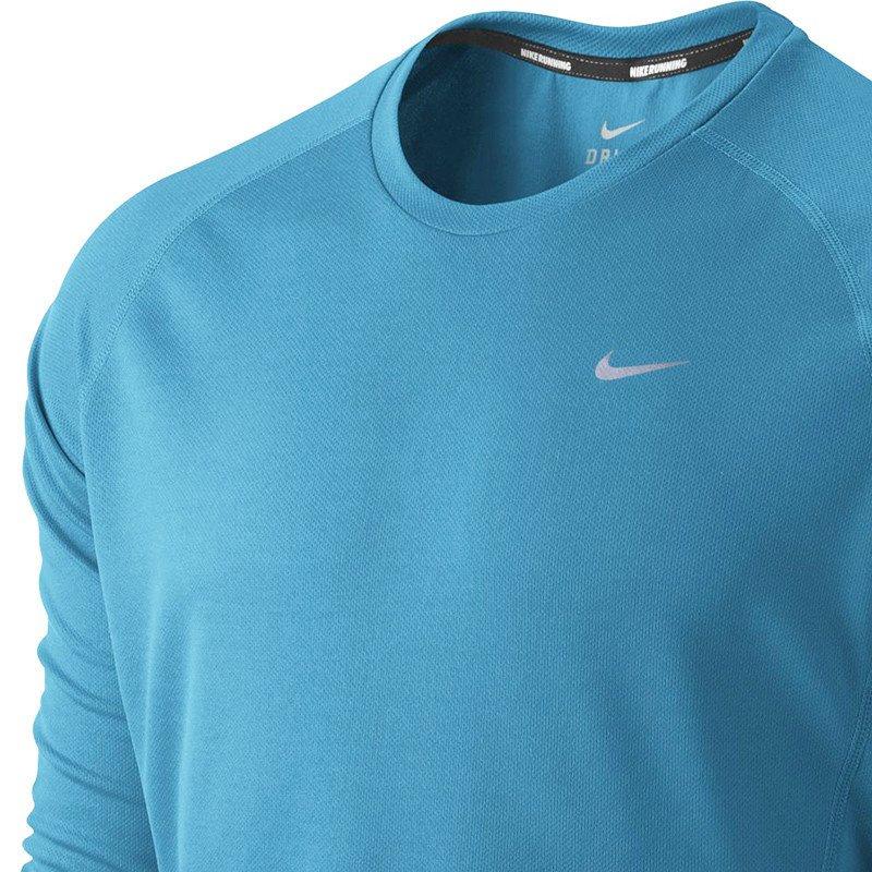 475358b4dfc2e9 koszulka do biegania męska NIKE MILER LONGSLEEVE UV (TEAM)   519700 ...