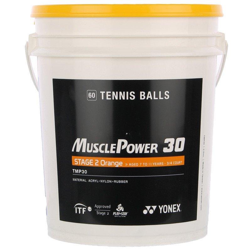 piłki tenisowe YONEX MUSCLE POWER 30 STAGE 2 ORANGE X60 ...