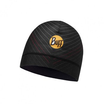czapka do biegania BUFF MICROFIBER 1 LAYER HAT BUFF NEW CIRON BLACK / 113248.999.10