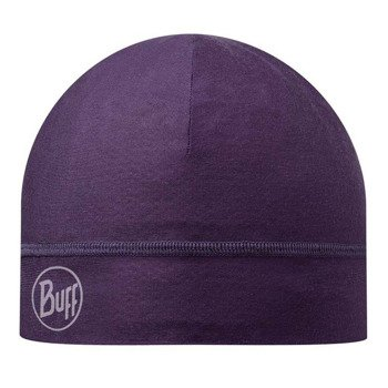 czapka do biegania BUFF MICROFIBER 1 LAYER HAT BUFF SOLID PLUM / 108902.622.10
