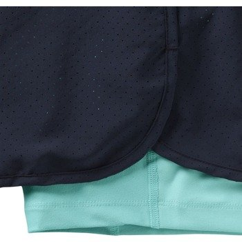 spodenki do biegania damskie NIKE PERFORATED RIVAL 2IN1 SHORT / 645468-451